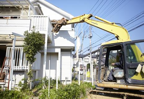 春日部市にて戸建住宅解体工事を行いました。